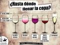 Hasta donde llenar una copa de vino - Vinos de La Mancha