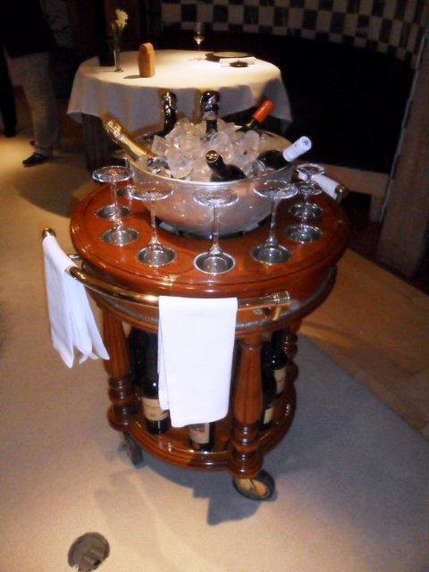 carro de vinos por copas