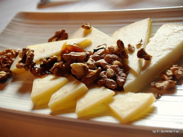 quesos y nueces