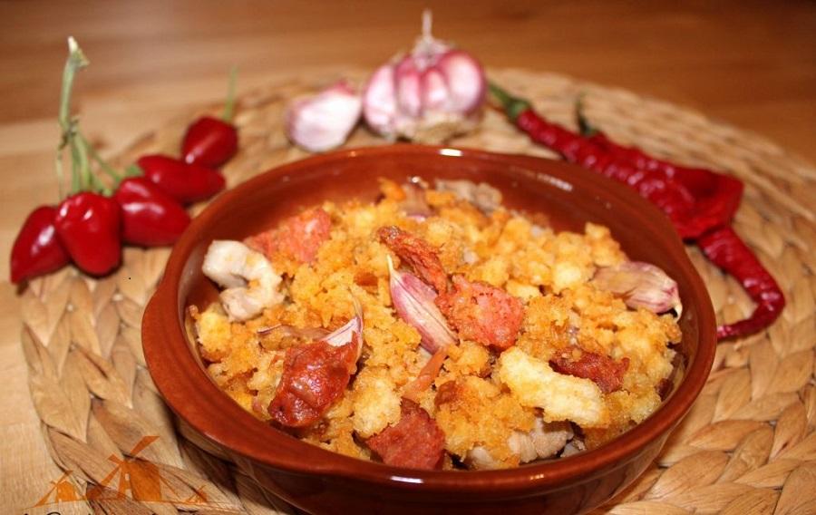 Migas manchegas o migas del pastor, una deliciosa receta típica de La Mancha