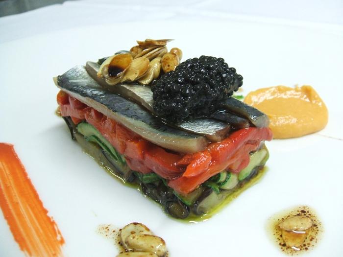 sardinas y verduras