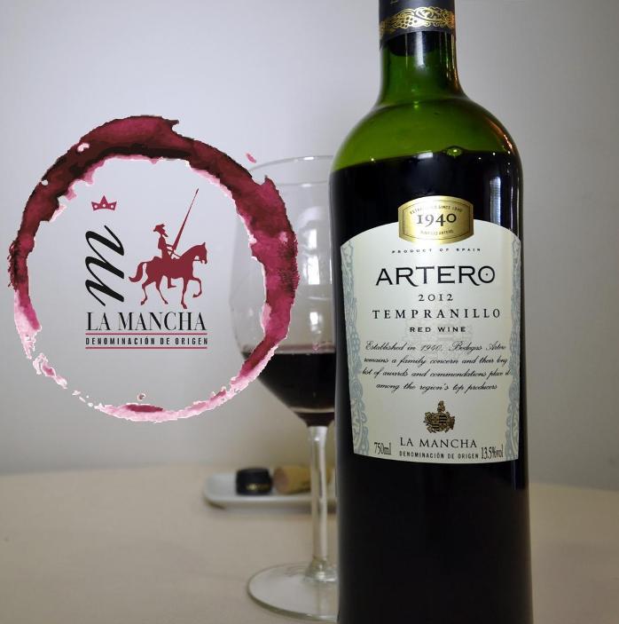 Artero Tempranillo 2012 D O La mancha
