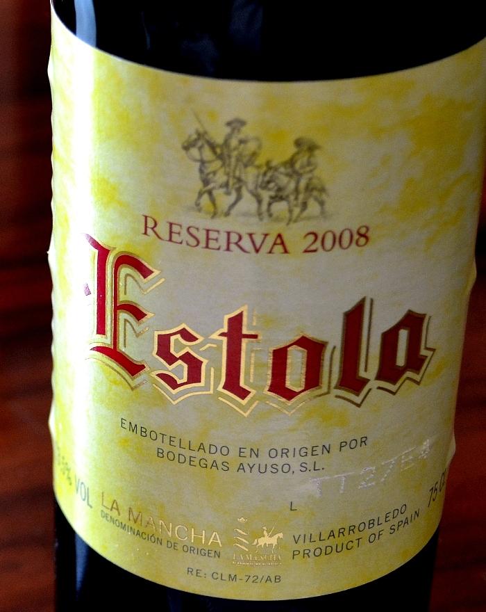 Estola Reserva 2008 Denominación de Origen La Mancha