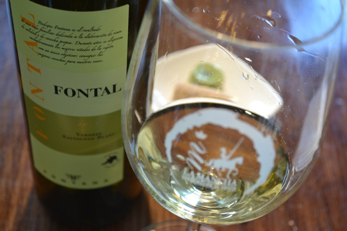 Fontal blanco Verdejo y Sauvignon blanc Denominación de Origen La Mancha