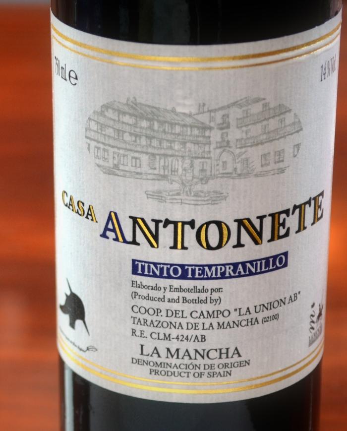 Casa Antonete Cencibel joven 2012 D. O. La Mancha