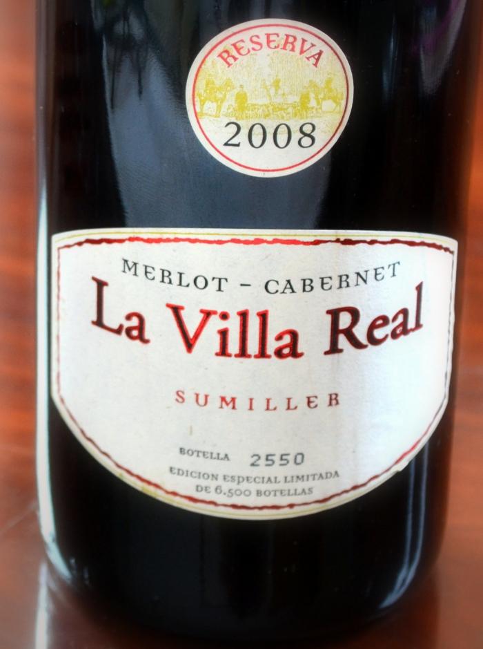 La Villa real Sumiller reserva 2008 D. O. La Mancha