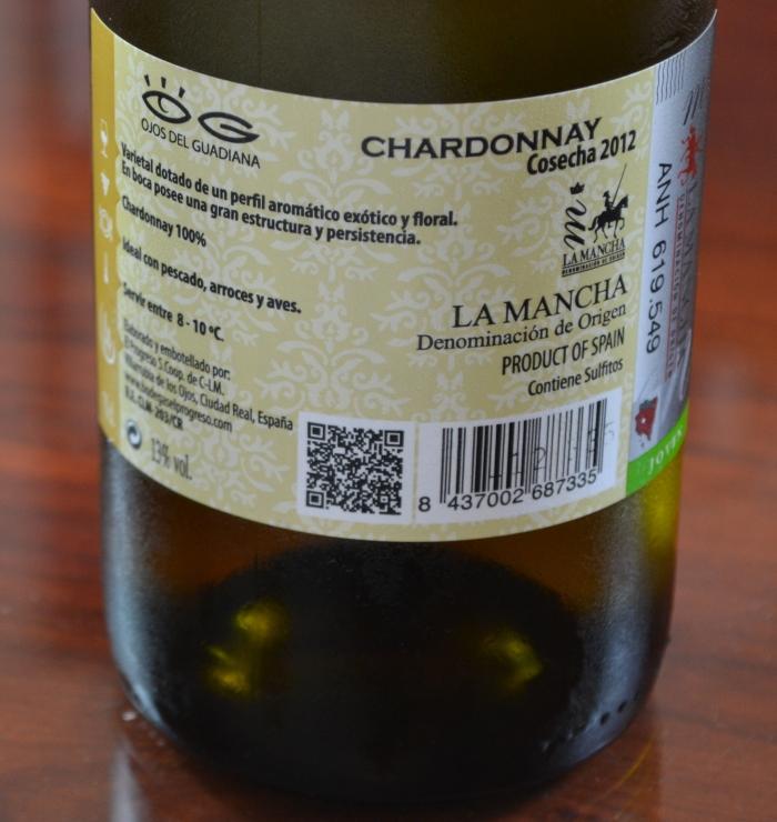 Ojos del Guadiana Chardonnay 2012 contra