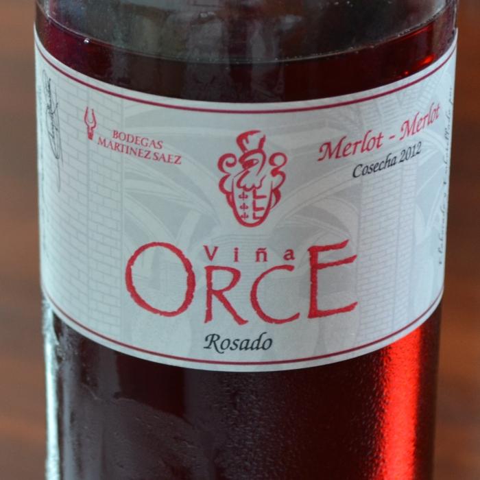 botella viña orce rosado