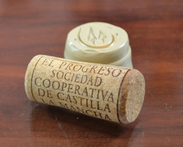corcho de Ojos del Guadiana Chardonnay