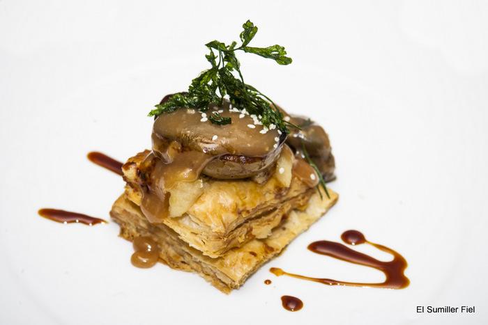 Tatin de foie, manzana y toffe