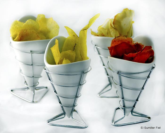Chips vegetales Escuela de Hostelería Toledo