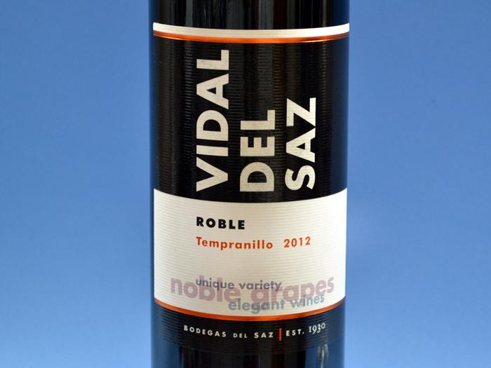 etiqueta-de-Vidal-del-saz-Tempranillo-Roble-2012