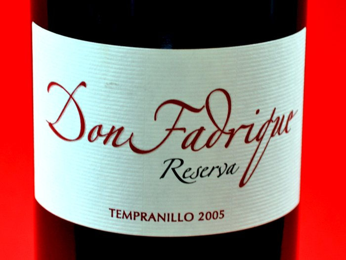 Don Fadrique Tempranillo reserva 2005