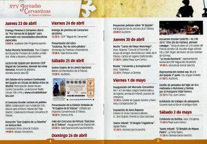 Programa Jornadas Cervantinas 2015
