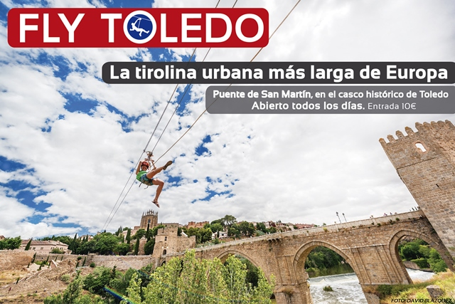 Tirolina sobre el río Tajo - flytoledo.com