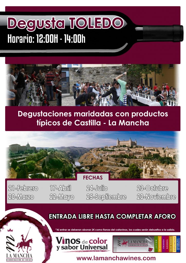 Cartel de actividades sobre Degusta Toledo
