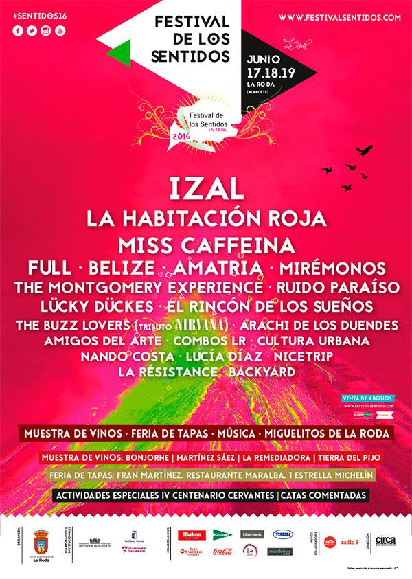 Cartel festival de los sentidos 2016