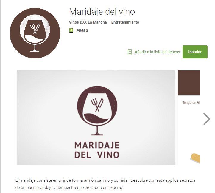 App, Maridaje del vino