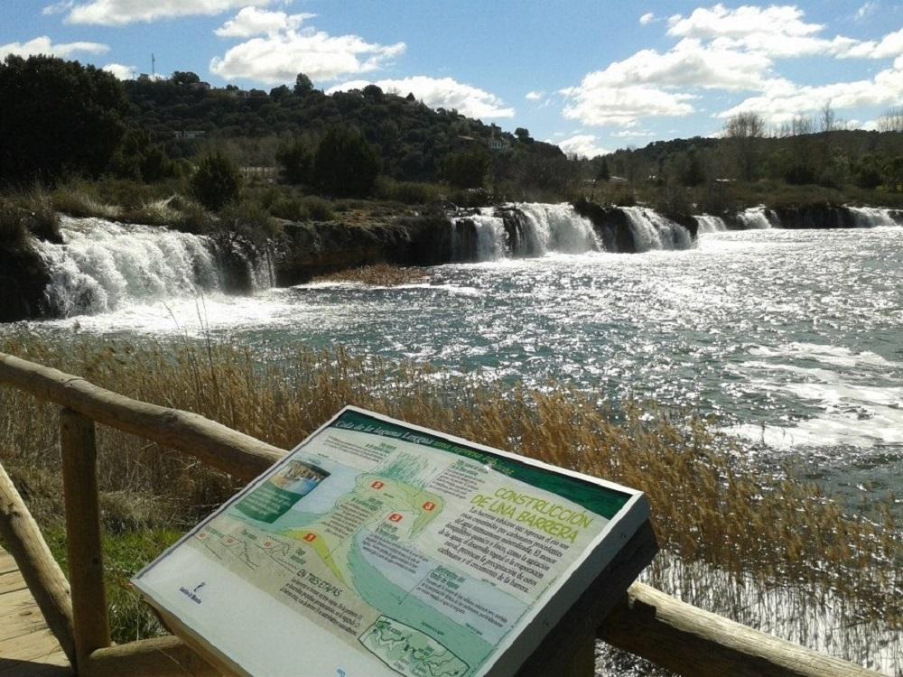 Imágen tomada en 2013, con el gran nivel de las aguas. Foto, página Oficial del Parque Natural Lagunas de Ruidera