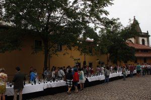 En un momento de la degustación en Asturias