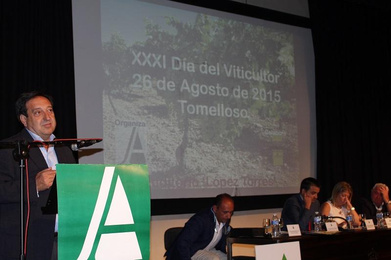 Pedro Barato en la anterior edición del día del viticultor