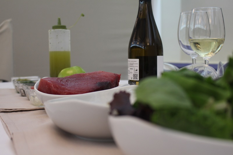 Ingredientes ensalada atún rojo