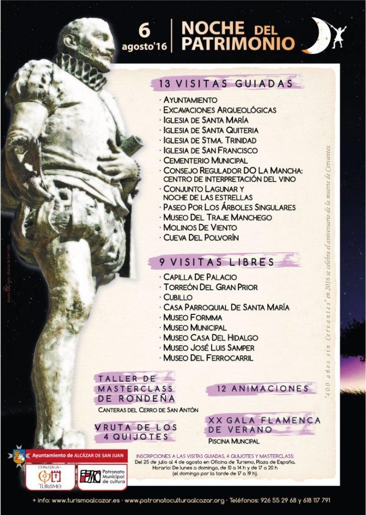 Programa Noche del Patrimonio 2016