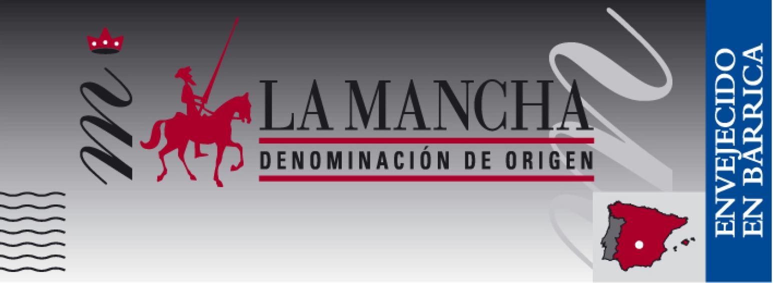 contraequeta de envejecido en barrica DO La Mancha