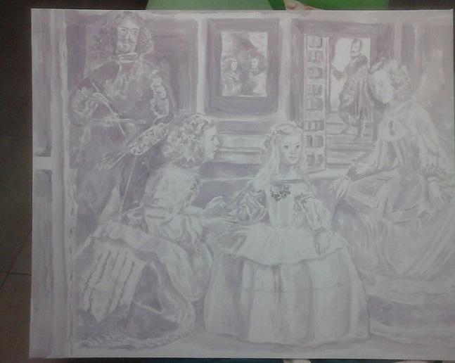 Cuadro alegórico de Las Meninas de José De Olmo