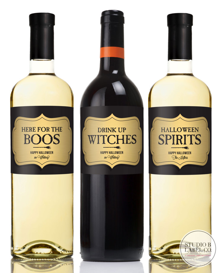 Halloween Wine Label