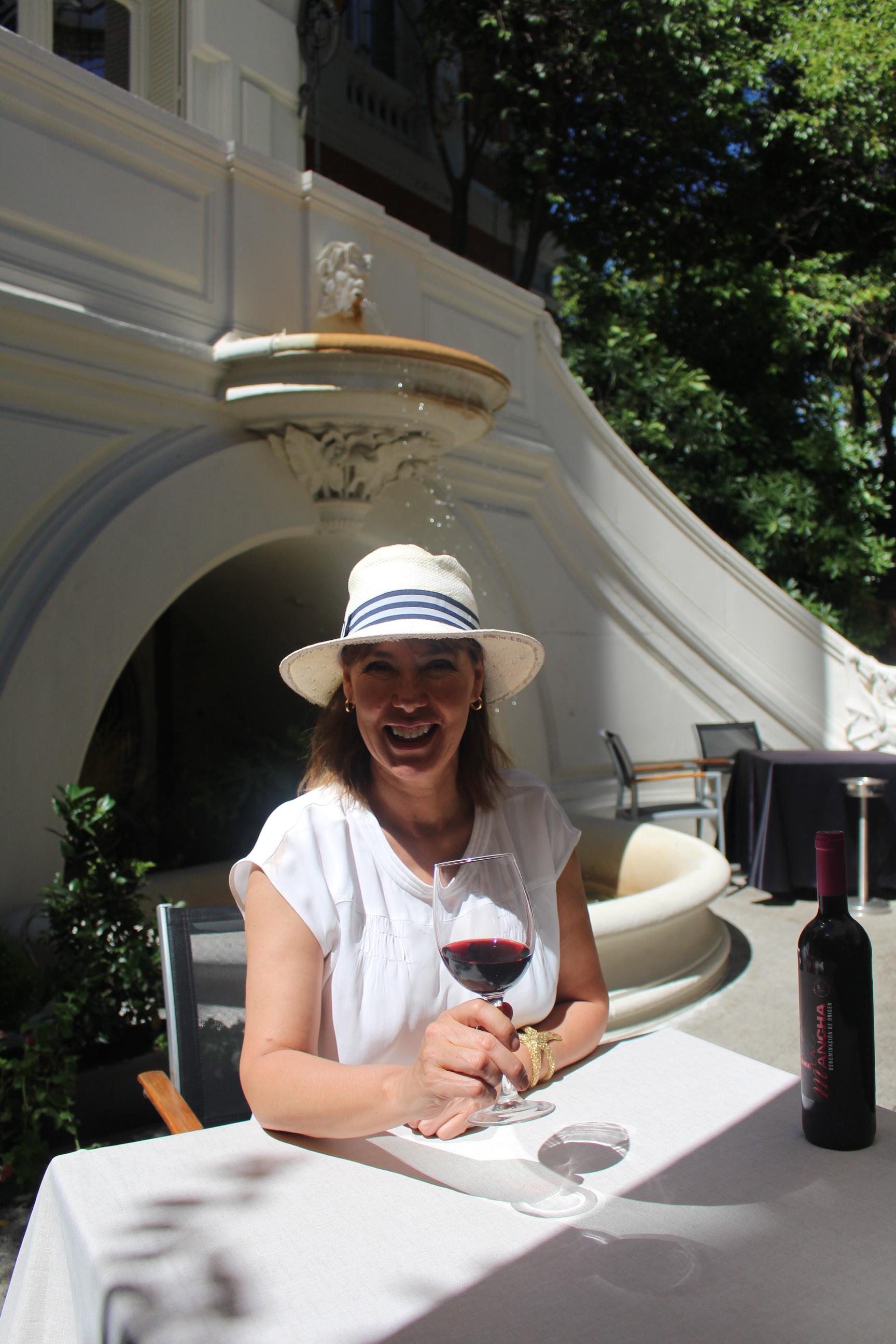 Mabel Lozano se define como una gran aficionada al vino