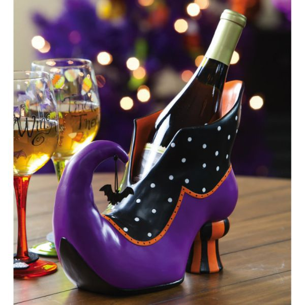 Witch's Shoe Wine Bottle Holder - Halloween
