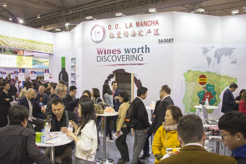 Los vinos DO La Mancha en anteriores ferias comerciales en China