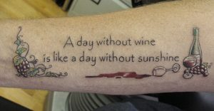 wine tattoo - quote