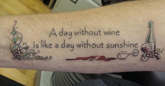 8 great tattoo ideas for wine lovers - La Mancha Wines