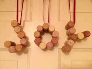 Christmas DIY cork words