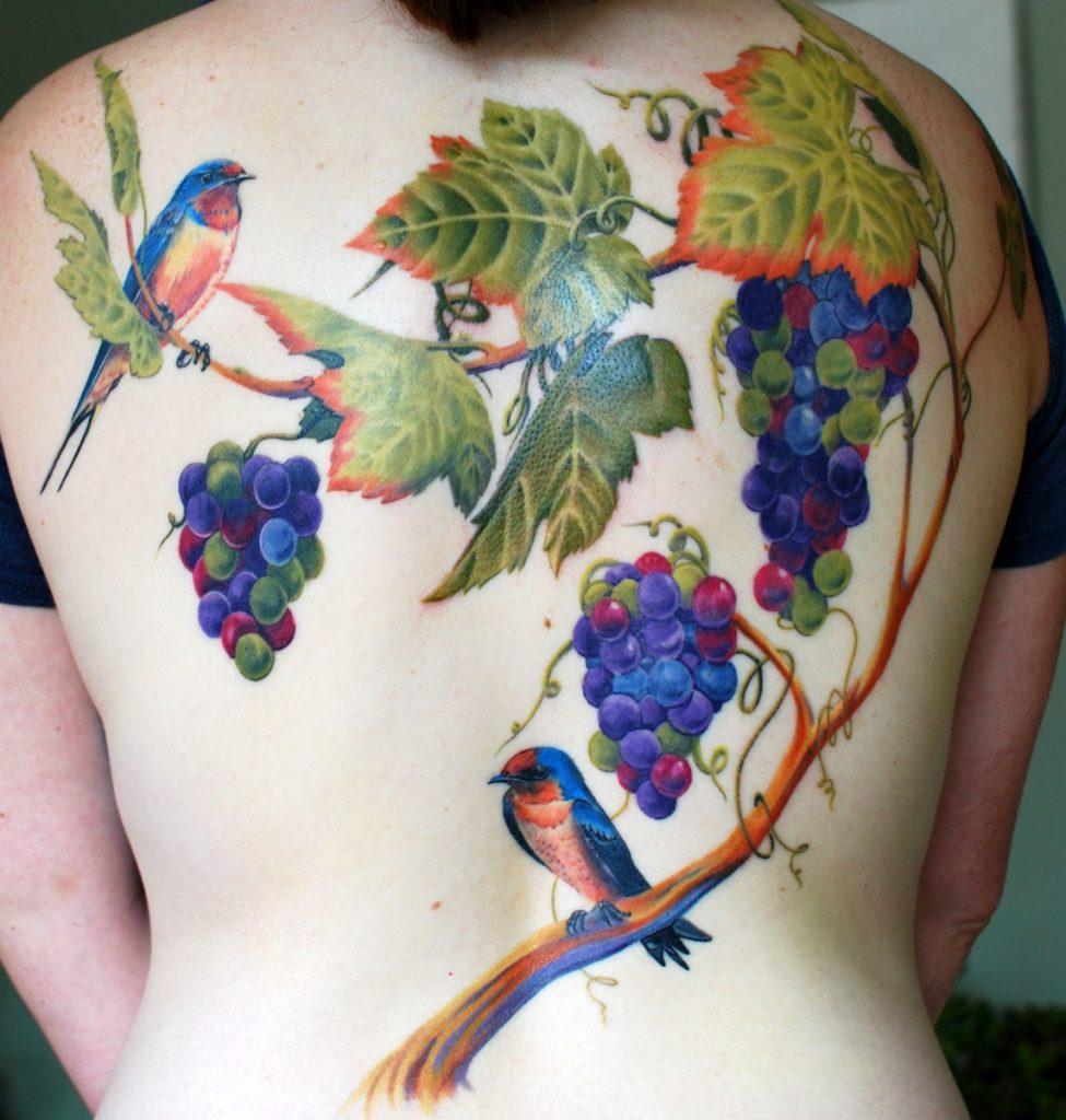 Wine tattoo - grapes