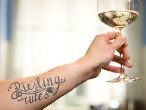Wine tattoo - name