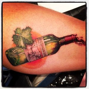 Wine tattoo - bottle