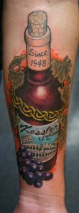 Wine Tattoo - bottle