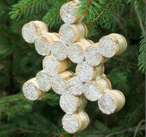Christmas DIY cork flake