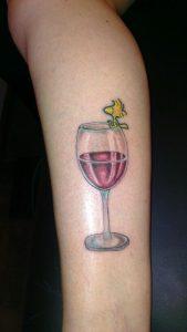 Wine tattoo - glass