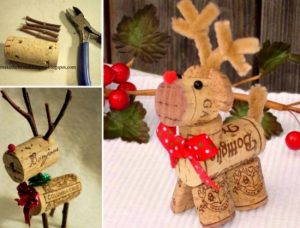 Christmas DIY cork reindeer
