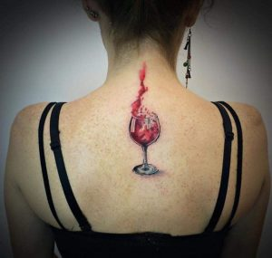 Wne tattoo - glass