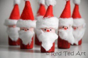 Christmas DIY cork santa