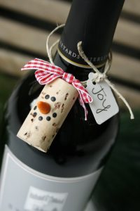 Christmas DIY cork bottle