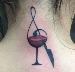 Wine tattoo - abstract