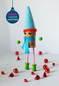Christmas DIY cork elf
