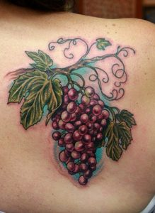 Wine tattoo - grapes