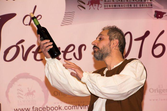 Don Quijote en la presentación de los vinos jóvenes 2016 DO La Mancha